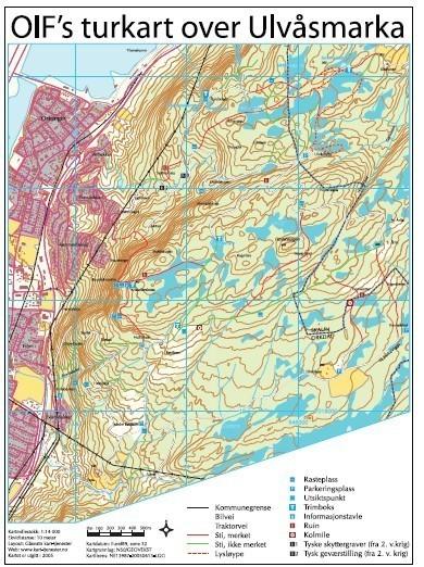 kart orkanger Orkanger Idrettsforening   Turkart for Ulvåsmarka